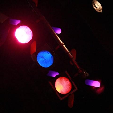 Ceilidh band lights in Edinburgh