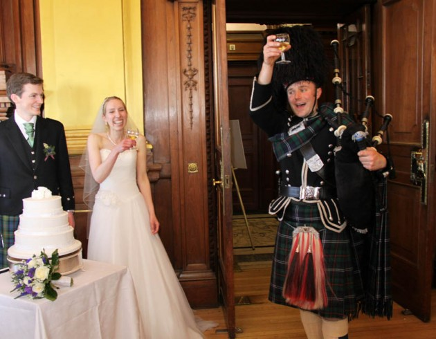 Piping at the City Chambers